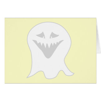 Ghoul Ghost. Gray and White. Card