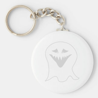 Ghoul Ghost. Gray and White. Key Ring