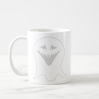 Ghoul Ghost. Gray and White. Mug