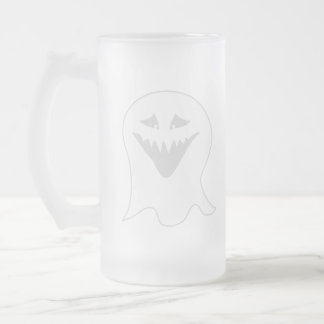 Ghoul Ghost Gray and White Mugs