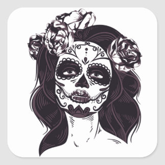Ghoul Girl Square Sticker
