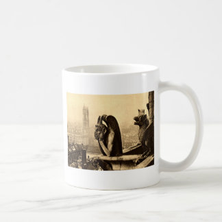 Ghoul Notre Dame, Paris France 1912 Vintage Basic White Mug