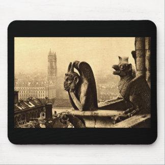 Ghoul Notre Dame, Paris France 1912 Vintage Mouse Mat