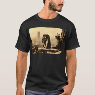 Ghoul Notre Dame, Paris France 1912 Vintage T-Shirt