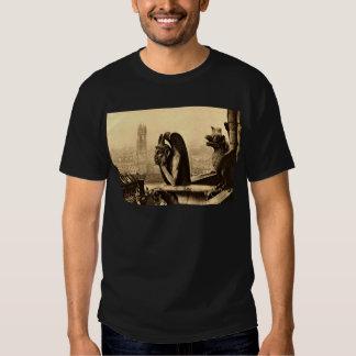 Ghoul Notre Dame, Paris France 1912 Vintage Tee Shirt