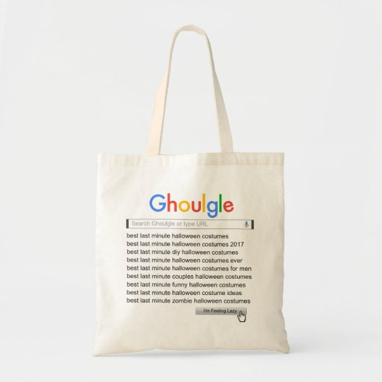 Ghoulgle Last Minute Halloween Costume Search 2017 Tote