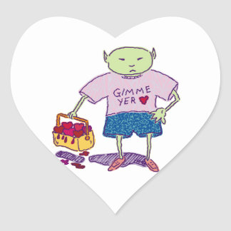 Ghoulie Gimme yer heart Stickers