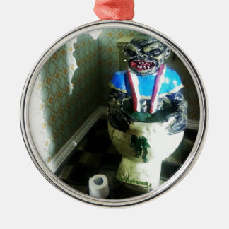 Ghoulies Retro 80's Movie Silver-Colored Round Decoration