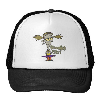 ghoulish girl zombie girl cartoon hat