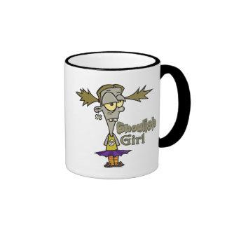 ghoulish girl zombie girl cartoon mug