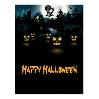 Ghoulish Halloween Postcard