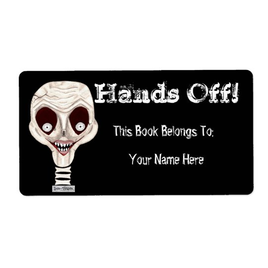 Ghoulish Skull Bookplate