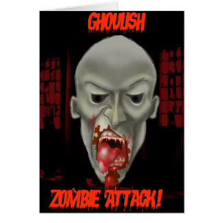 Ghoulish Zombie Attack Greeting Card