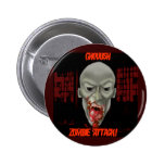 Ghoulish Zombie Attack Pinback Button