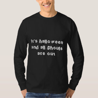 ghouls are out-halloween black long sleeve t-shirt