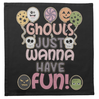 Ghouls Just Wanna Have Fun - Novelty Halloween Napkin