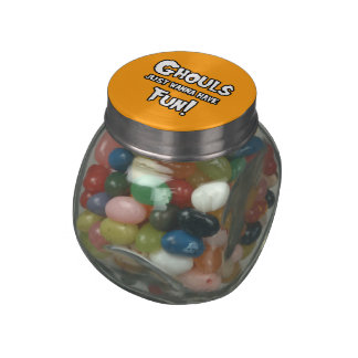 GHOULS JUST WANNA HAVE FUN - png Glass Candy Jars