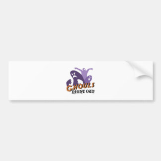 Ghouls Night Out Bumper Sticker