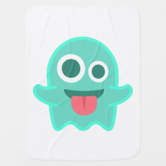 Ghouly Googly Ghost Baby Blanket