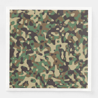 GI Camouflage Military Party Napkins Disposable Napkins