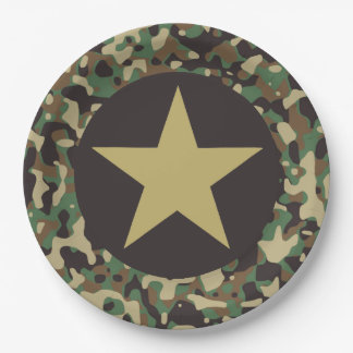 GI Camouflage Soldier Joe Military Party Plates