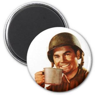 GI Cuppa Joe 6 Cm Round Magnet
