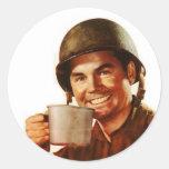 GI Cuppa Joe Round Stickers