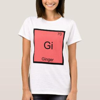 Gi - Ginger Funny Chemistry Element Symbol T-Shirt