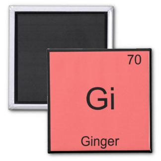 Gi - Ginger Funny Chemistry Element Symbol T-Shirt Magnet
