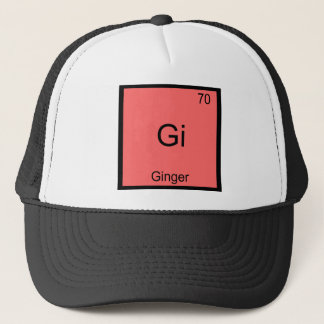 Gi - Ginger Funny Chemistry Element Symbol T-Shirt Trucker Hat