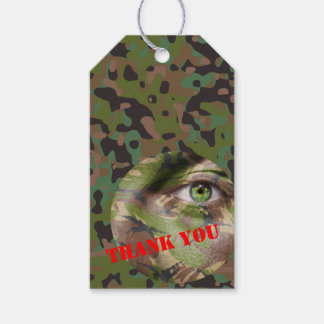 GI JOE Camouflage Party Gift Tags