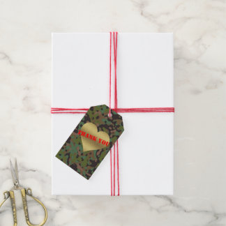 GI JOE Camouflage Party Thank You Gift Tags