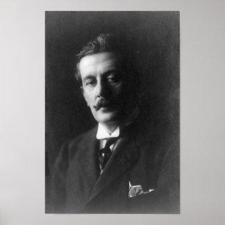 Giacomo Puccini Portrait Poster