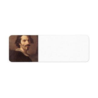 Gian Lorenzo Bernini-Self-Portrait as a Mature Man Return Address Label