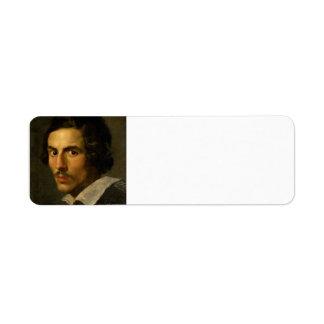Gian Lorenzo Bernini- Self Portrait as a Young Man Return Address Label