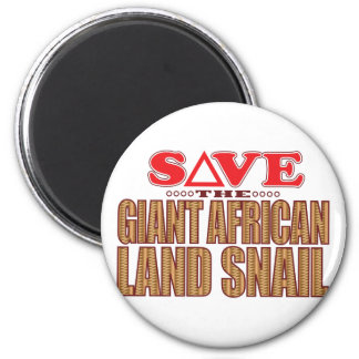 Giant African Land Snail Save 6 Cm Round Magnet