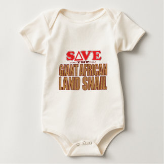 Giant African Land Snail Save Baby Bodysuit