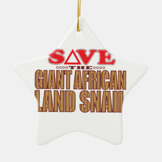 Giant African Land Snail Save Ceramic Star Decoration