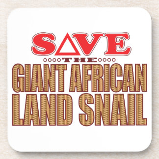 Giant African Land Snail Save Coaster