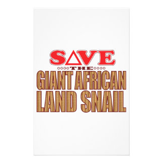 Giant African Land Snail Save Custom Stationery
