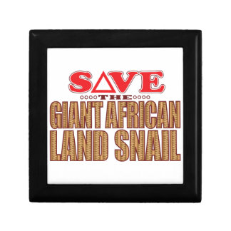 Giant African Land Snail Save Gift Box