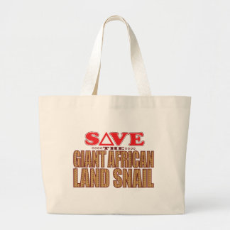 Giant African Land Snail Save Large Tote Bag