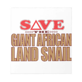 Giant African Land Snail Save Notepad