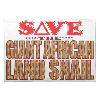 Giant African Land Snail Save Placemat