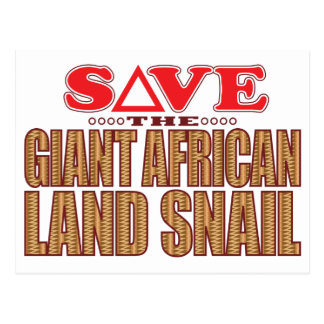Giant African Land Snail Save Postcard