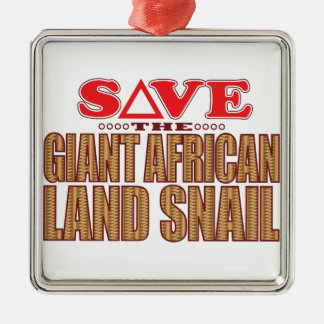 Giant African Land Snail Save Silver-Colored Square Decoration