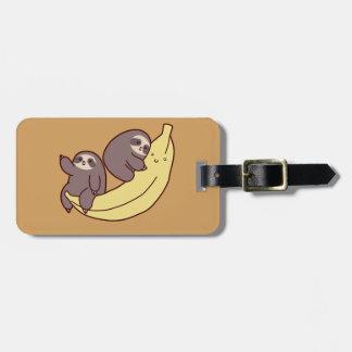 Giant Banana Sloths Luggage Tag