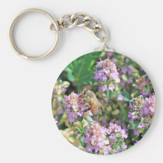 Giant Bee II Basic Round Button Key Ring