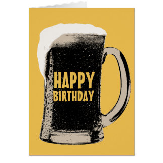 Giant Beer Glass Happy Birthday Cards