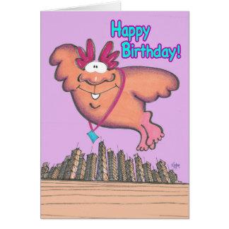 GIANT BIRDMAN Birthday Card
